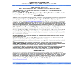 2011 Town of Alma Drinking Water Consumer Confidence Report