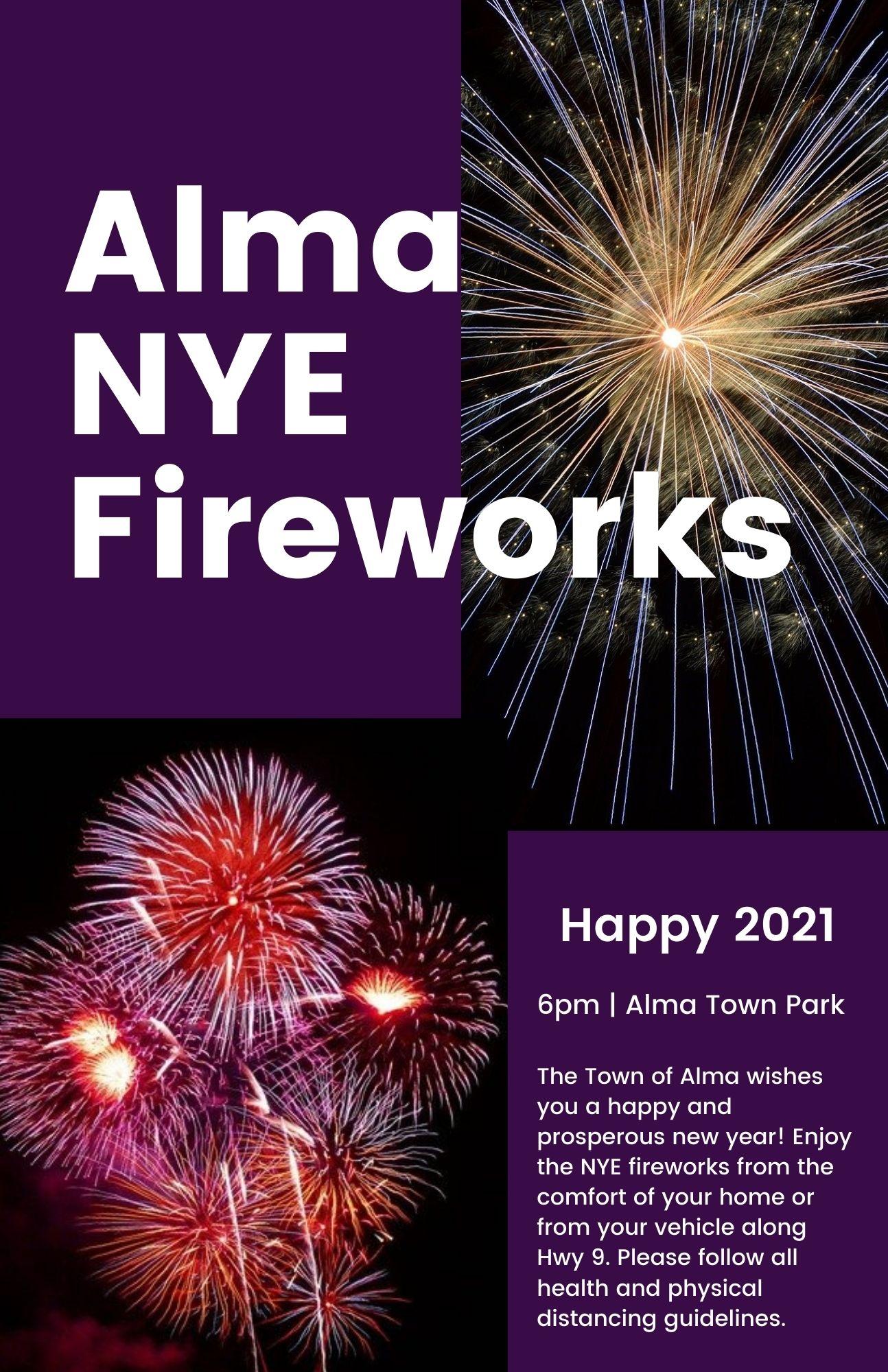 Alma NYE Fireworks